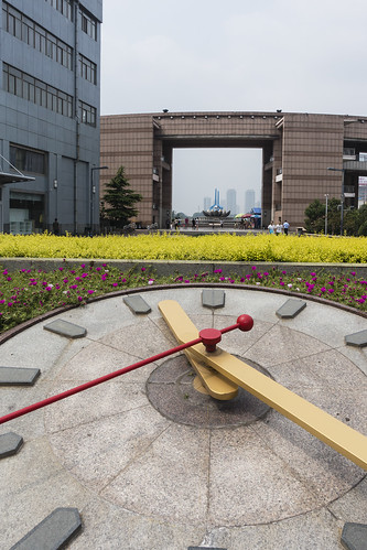 asia china jinan people shandong sonyrx100iii architecture art building cityscape clock garden installation chn