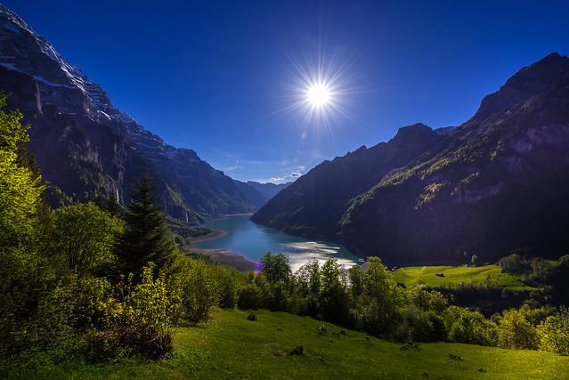 Lake Klöntal view from Schwammhöhe - Glarus - Switzerland