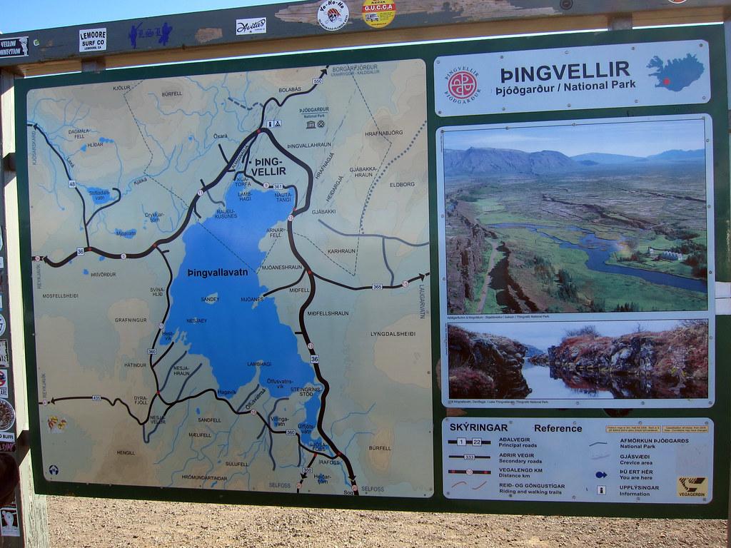 Thingvellir National Park Map Thingvellir National Park map | Liz Hall | Flickr