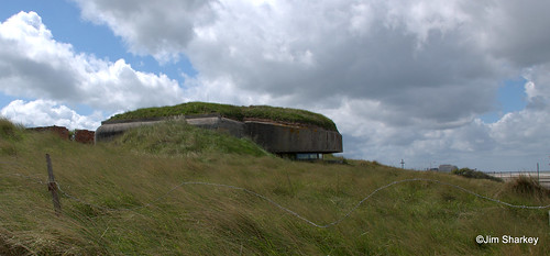 German bunker on Hitlers Atlantic wall at Ostend