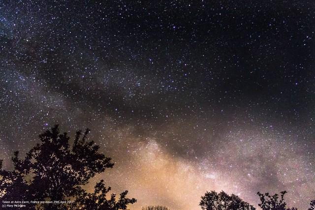 Pre-dawn Milky Way from Astro Farm 29/04/17