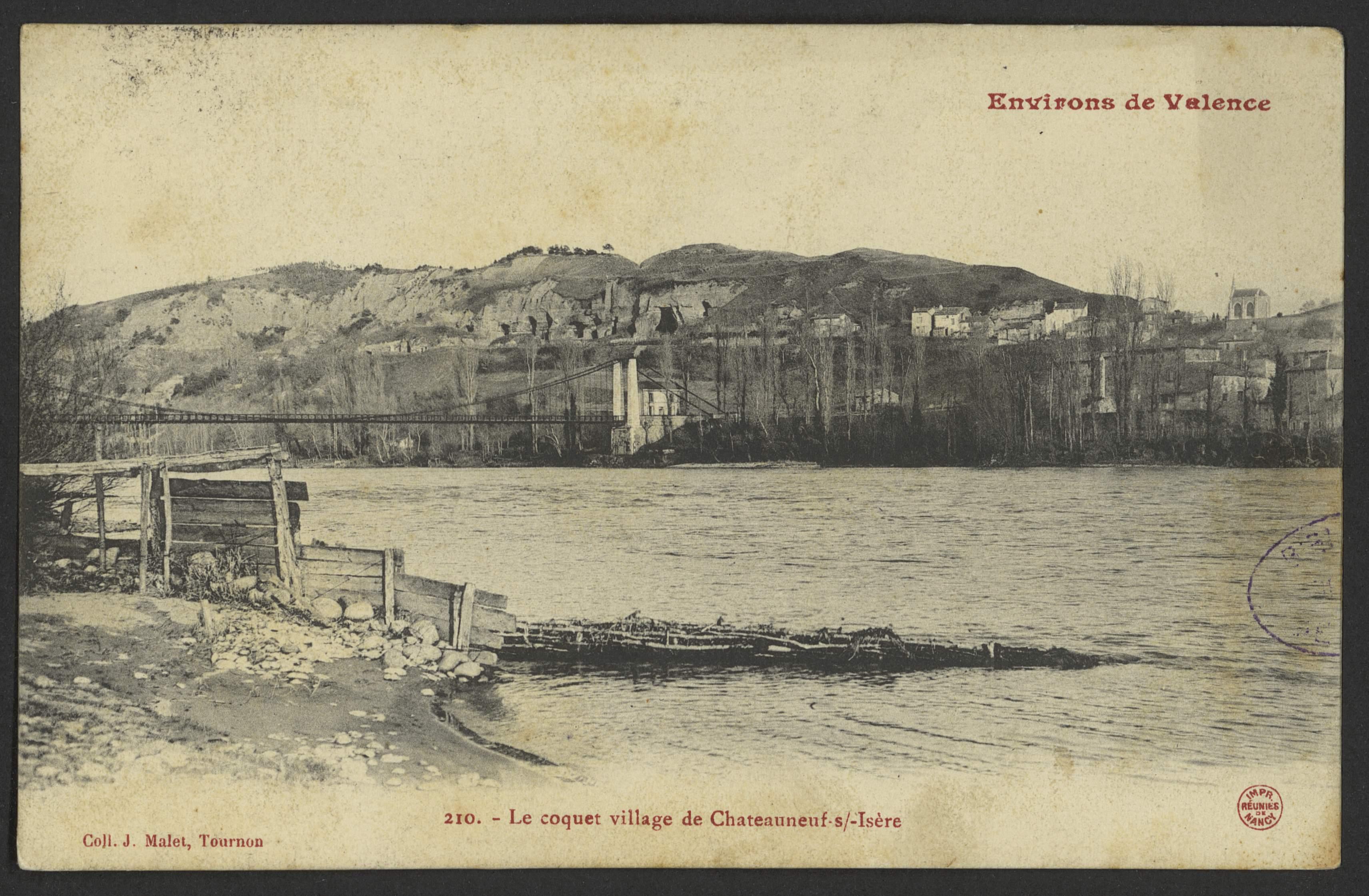Le coquet village de Chateauneuf s/-Isère