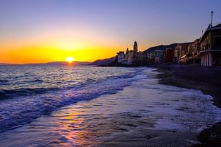 Camogli (GE) al tramonto
