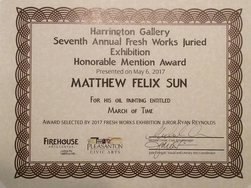 IMG_2329 - Fresh Works VII, Honorable Mention Award, Harrington Gallery, Pleasanton | by Matthew Felix Sun