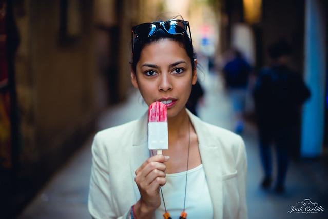 The ice cream.