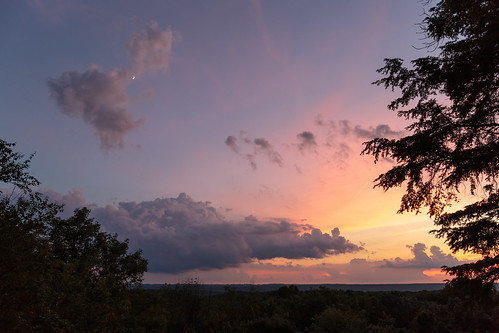 clouds colors cuyahogavalleynationalpark moon ohio overlook park sky summer sunset trees virginiakendall