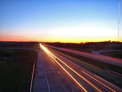 wabaunseecounty kansas usa 2017 may may2017 evening aftersunset dusk highway road driving driverpic i70 interstate70 interstate freeway lightstreams longexposure 10sec 10second 10secondlongexposure