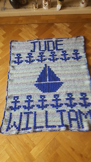 Nautical themed blanket for Jude