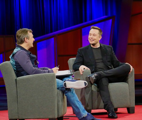 Elon Musk and Chris Anderson at TED 2017 | by jurvetson