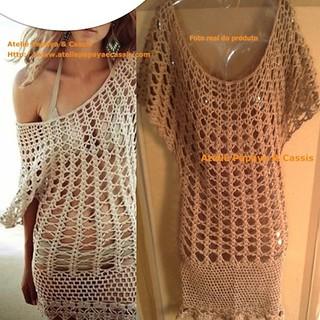vestido de crochê saida de praia | by Papaya & Cassis Boutique Ateliê