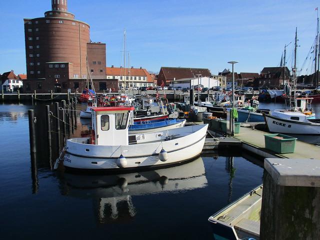 Wasserspiegelung im Eckernförder Hafen