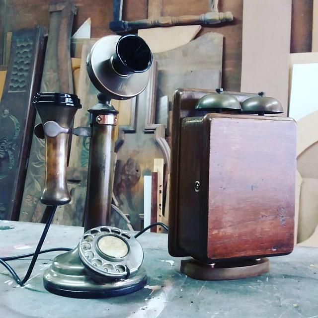 Restauro mais renovação de Telefone Kellogg tipo