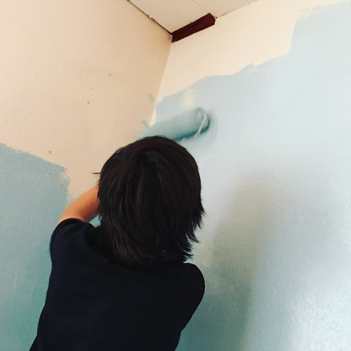 More coats of 🎨 paint! #JamesNewRoom #newhouse | by edmelendez