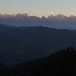 Sinrise on the Himalayan range