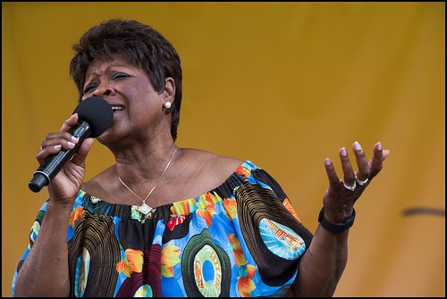 Irma Thomas at Jazz Fest day 6 on May 6, 2017. Photo by Ryan Hodgson-Rigsbee