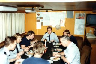 Jouluruokailua VL Turvalla vuonna 1983