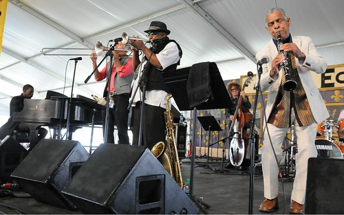 Charlie Gabriel & Friends in Economy Hall Tent on Day 4 of Jazz Fest - May 4, 2017. Photo by Black Mold.