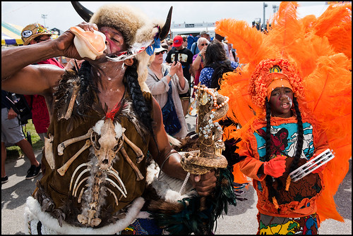 Golden Sioux parading during Jazz Fest day 1 on April 28, 2017. Photo by Ryan Hodgson-Rigsbee www.rhrphoto.com
