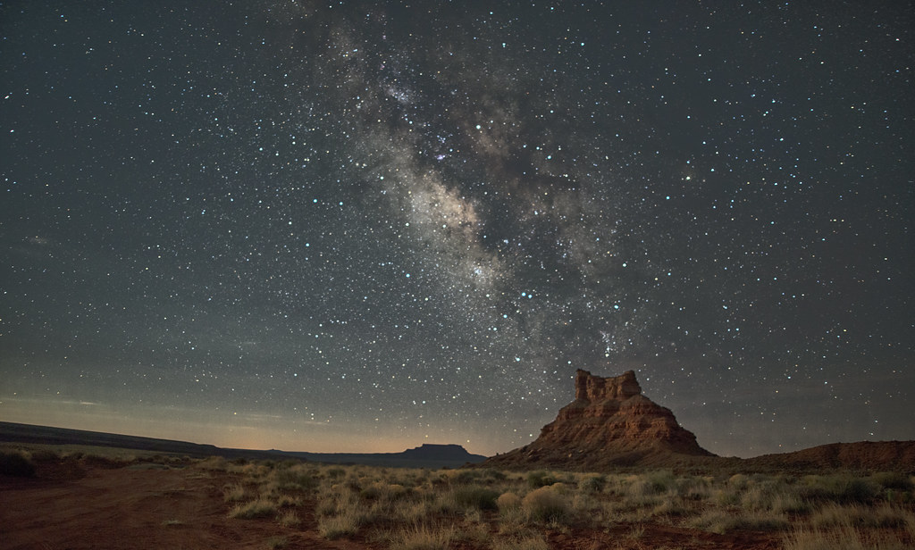 stars over Butte, Valley of the Gods, Bears Ears National Monument