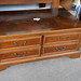 Large dark wood table with drawers E55