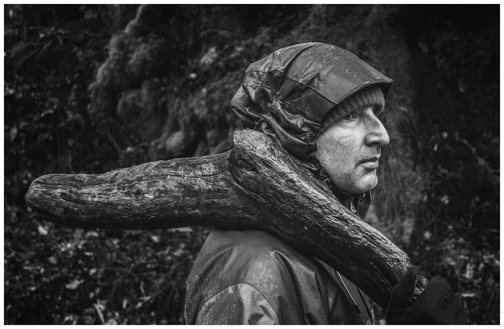 Alan Carrying Wood, Arisaig