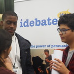 Debaters from Schools and Colleges around London debate votes at 16 and increasing the age of compulsory education in the Atlee Suite in the Houses of Parliament.