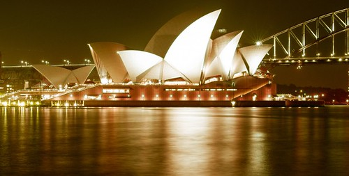 Sydney Opera House and Sydney Harbour Bridge | by publicdomainphotography
