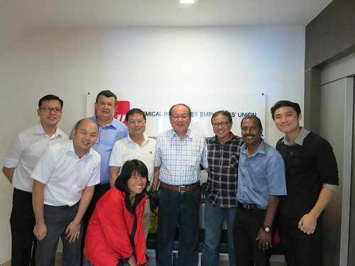 圖10本會代表拜會新加坡化學工會聯合會(CIEU)並合影留念