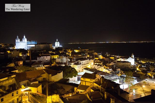 Looking southeast of Lisbon with Igreja de Santo Estêvão on the left
