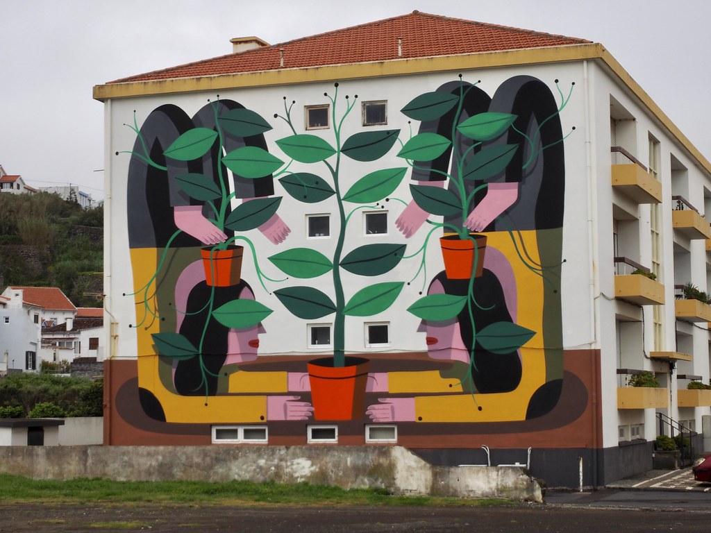 Peinture Murale Angra Do Heroismo Ile De Terceira Uax