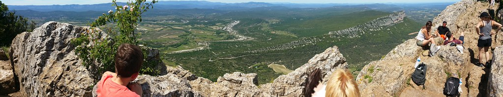 Saint Gely du Fesc (France) - from the top of the Pic Saint Loup