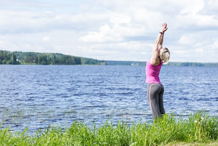 private yoga on a lake shore | by VisitLakeland