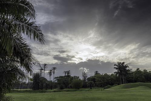 light sky sunset tropical clouds