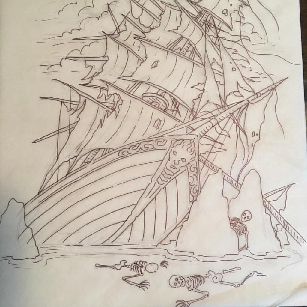 Morning Drawing. Shipwreck With Casualties, Ha Ha. #rising
