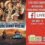 this is gonna be fun! Allison Schult & I will be live on the RED CARPET during the WORLD PREMIERE of You're Gonna Miss Me thanks to Visit Tucson!    We'll have Kix Brooks, John Schneider, William Shockley, Leo Howard, Justin Deeley, director Dustin Rikert