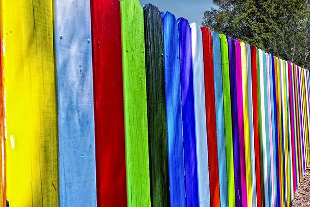 Fence of Many Colors - Mt. Airy