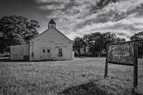 bw baptist blackwhite blackandwhite cemetery chapel church monochrome providence providencemissionarybaptistchurch brenham texas unitedstates us