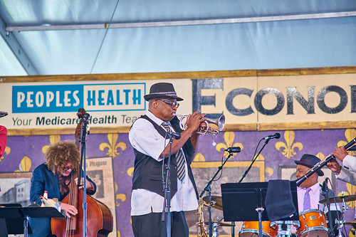 Economy Hall Tent on Day 4 of Jazz Fest 2017 - May 4. Photo by Eli Mergel.