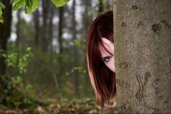 Hinter dem Baum