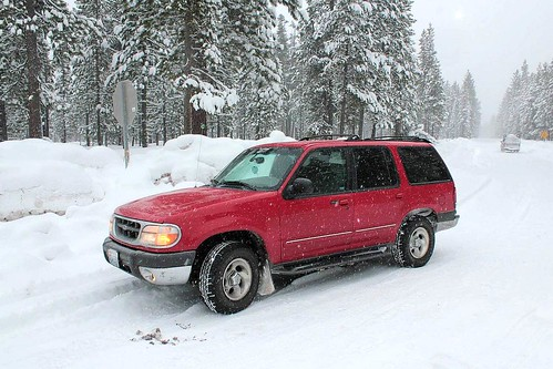oregon winter snow mowich oregonhighway58 4x4 ford fordexplorer 1999 1999fordexplorer