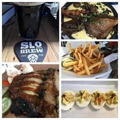 #dinner is #served! #brisket #deviledeggs #fries #polenta and #stout to wash it all down :ok_hand: