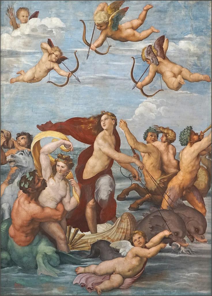 Le Triomphe de Galatée de Raphaël (Villa Farnesina, Rome)