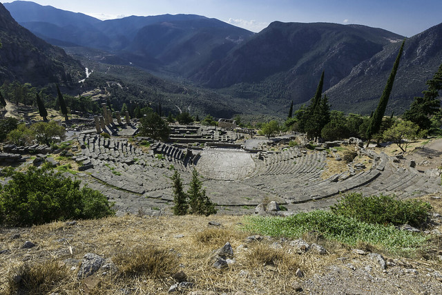 Delphi, The Northern Slope of the Sanctuary – V - The Theater
