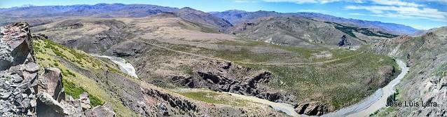 La Ruta 39 desde el Mirador La Puntilla - Pano