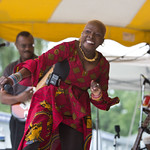 Sat, 20/06/2015 - 2:55pm - The fabulous Angelique Kidjo on the main stage Saturday afternoon, 6/20/15. Photo by Gus Philippas