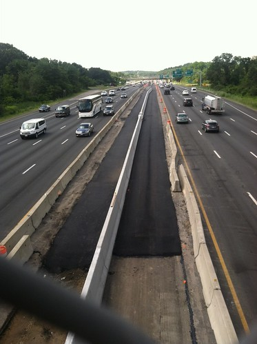 Route 2/I-95: New I-95 Median Barrier with Paving   by MassDOT