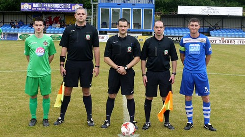Captains and Officials Barry Town United friendly