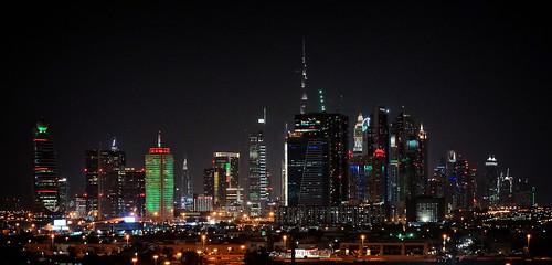 night view city skyline dubai