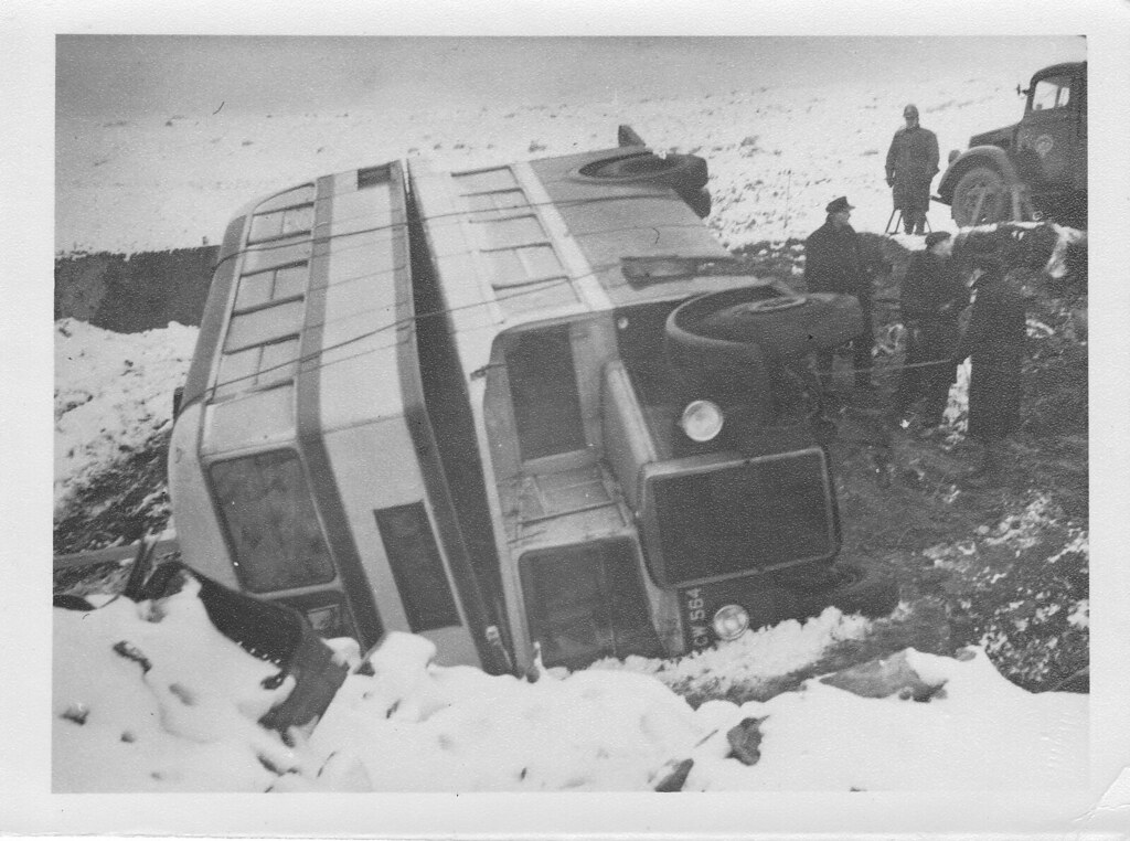 My Granddad's BC&N bus accident  1960 (photo 1 of 7) | Flickr