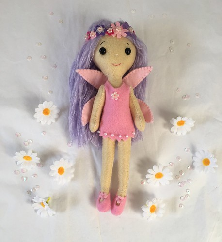 This is Tatiana the flower fairy.  (Decorative/collectable doll). Size 23-25cm. Lovely beaded head band. www.facebook.com/myaureliarose